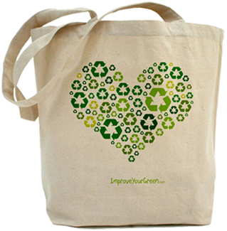Reusable Canvas Shopping Bag | Heart Canvas Bags